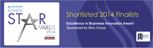 Shortlisted Finalist 2014 for Perthshire Chamber of Commerce Star Awards